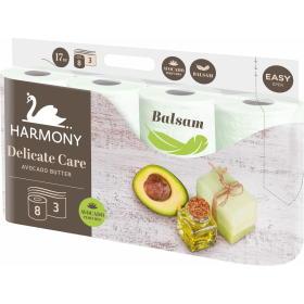 Harmony papier toaletowy DELICATE CARE Avocado 8x8 rolek, 3 warstwy, BEZPŁATNY ODBIÓR: WROCŁAW!