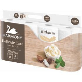 Harmony papier toaletowy DELICATE CARE Shea Butter 8x8 rolek, 3 warstwy, BEZPŁATNY ODBIÓR: WROCŁAW!