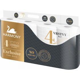 Harmony papier toaletowy EXCLUSIVE PURE WHITE 7x8 rolek, 4 warstwy, BEZPŁATNY ODBIÓR: WROCŁAW!