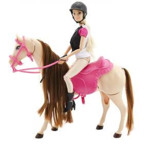 Teddies lalka dżokejka z koniem, BEZPŁATNY ODBIÓR: WROCŁAW!