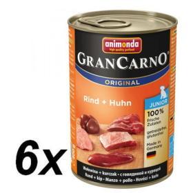Animonda mokra karma dla psa GranCarno Junior kurczak + wołowina 6 x 400g, BEZPŁATNY ODBIÓR: WROCŁAW!