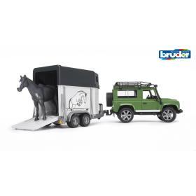 BRUDER Land Rover z przyczepą oraz koniem, BEZPŁATNY ODBIÓR: WROCŁAW!