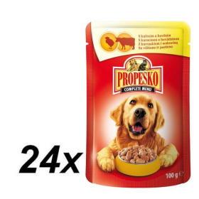 Propesko mokra karma w saszetkach dla psa - wołowina + kurczak 24 x 100 g, BEZPŁATNY ODBIÓR: WROCŁAW!