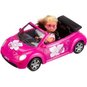 SIMBA lalka Ewa w samochodzie New Beetle, BEZPŁATNY ODBIÓR: WROCŁAW!