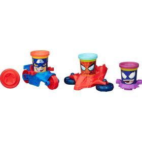 Play-Doh Pojazdy superbohaterów Marvel - Kapitan Ameryka, Spiderman,Venom B0606, BEZPŁATNY ODBIÓR: WROCŁAW!
