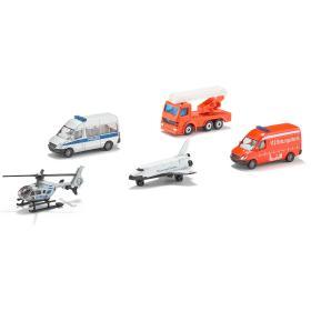 SIKU Zestaw pojazdów ratunkowych + helikopter 5szt, BEZPŁATNY ODBIÓR: WROCŁAW!