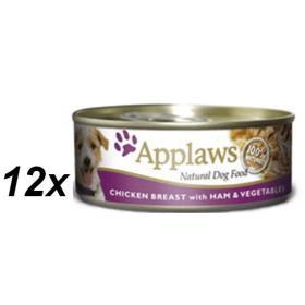 Applaws mokra karma dla psa Chicken & Ham & Vegetables 16x156 g, BEZPŁATNY ODBIÓR: WROCŁAW!