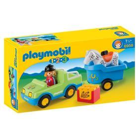 Playmobil Samochód z przyczepą dla konia 6958, BEZPŁATNY ODBIÓR: WROCŁAW!