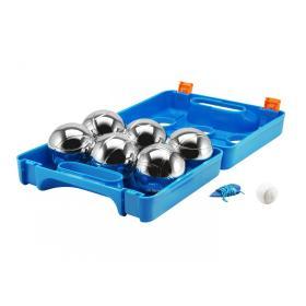 Eddy Toys Petanka Gra w bule w kuferku, 6 kuli, niebieska, BEZPŁATNY ODBIÓR: WROCŁAW!