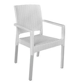 MEGA PLAST krzesło MP692 RATAN LUX, białe, BEZPŁATNY ODBIÓR: WROCŁAW!