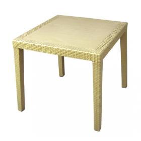 MEGA PLAST stół ogrodowy MP696 RATAN LUX stół 71 x 75,5 cm, kremowy, BEZPŁATNY ODBIÓR: WROCŁAW!