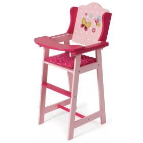 Bayer Chic Drewniane krzesełko do karmienia dla lalek, różowe, BEZPŁATNY ODBIÓR: WROCŁAW!