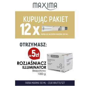 Farba MAXIMA Plex x 12 + rozjaśniacz Illuminator 1000 g