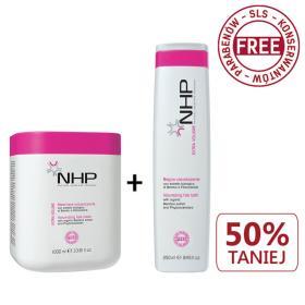 NHP maska 1L Volume + szampon 250ml