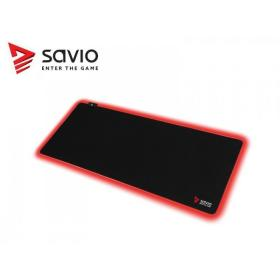 Elmak Podkładka pod mysz gaming SAVIO LED Edition Turbo Dynamic XL 900x400x3mm, krawędzie LED RGB, Obszyta