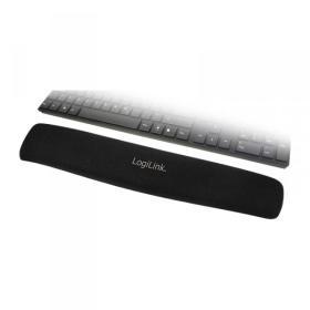 LogiLink Żelowa podkładka pod klawiaturę, czarna