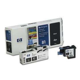 Głowica (Printhead) HP 81 cyan + Gniazdo czyszczące (Printhead cleaner) cyan do DnJ 5000/5000ps/5500/5500ps (C4951A)