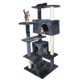 Drzewko Drapak Legowisko dla kota 120cm szary