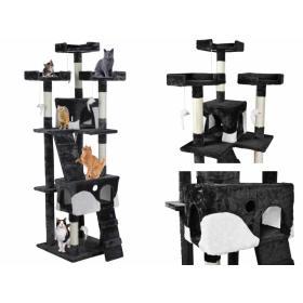 Drzewko Drapak Legowisko dla kota 170cm czarne