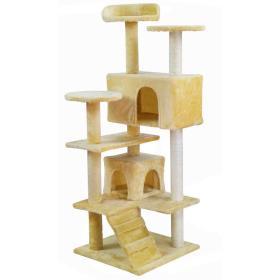Drzewko Drapak Legowisko dla kota 120cm beżowe