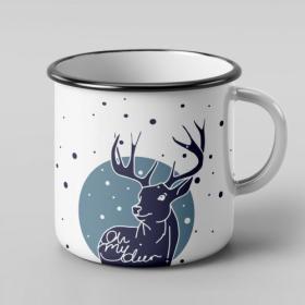 Kubek emaliowany Oh my deer
