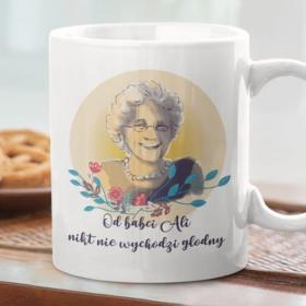 Kubek personalizowany - Od babci - imię - nikt nie wychodzi głodny