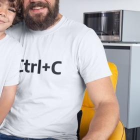 T-shirt Ctrl+C Biała L out