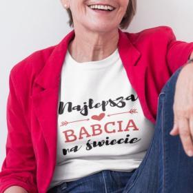 T-shirt koszulka Najlepsza Babcia Na Świecie