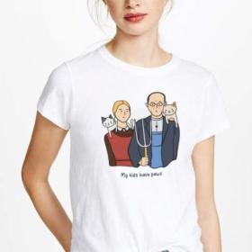 T-shirt koszulka wzór My kids have paws
