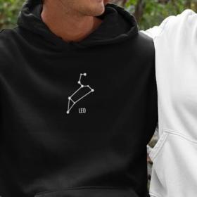 Bluza konstelacje Capricorn czarna M (szare sznurki) out