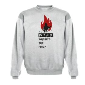 """Bluza Oversize """"Where's the fire"""" szara M out"""