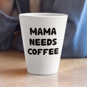 Kubek Ceramiczny Latte Mama Needs Coffee