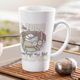 Kubek Ceramiczny Latte Z Tobą Leniuchuje Mi Się Najlepiej Leniwce 500ml