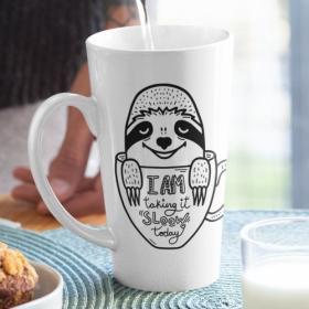 Kubek Ceramiczny XL Latte I Am Taking It Sloow Today