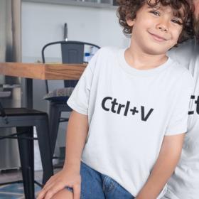T-shirt Ctrl+V Biała 5/6 out