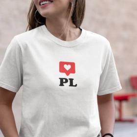 T-shirt koszulka PL - serduszko