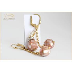 Komplet kolczyki z wisiorkiem z masą perłową