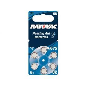 6x Baterie do aparatów słuchowych RAYOVAC NOWE 675