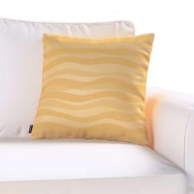Dekoria.pl Poszewka Kinga na poduszkę, złote fale z połyskiem, 60 × 60 cm, Damasco
