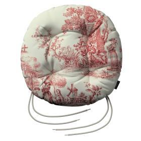 Dekoria.pl Siedzisko Adam na krzesło, tło ecru, czerwone postacie, fi 40 × 8 cm, Avinon