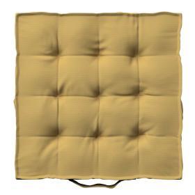 Dekoria.pl Siedzisko Kuba na krzesło, zgaszony żółty, 40 × 40 × 6 cm, Cotton Panama