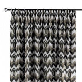Dekoria.pl Zasłona na taśmie marszczącej 1 szt., czarno- beżowe zygzaki o nieregularnym kształcie na jasnym tle , 1szt 130 × 260 cm, Modern