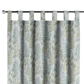 Dekoria.pl Zasłona na szelkach 1 szt., zielone gałązki na szaro pastelowym tle, 1szt 130 × 260 cm, Pastel Forest