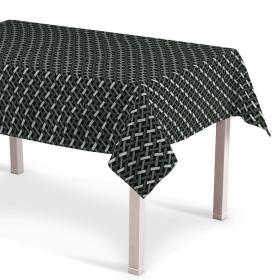 Dekoria.pl Obrus prostokątny, czarno-biały, 130 × 130 cm, Black & White