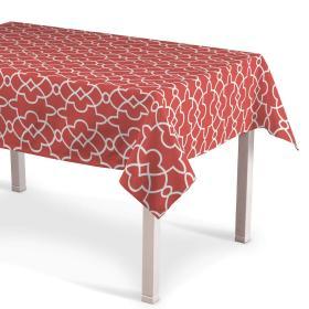 Dekoria.pl Obrus prostokątny, czerwony w biały marokański wzór, 130 × 130 cm, Gardenia