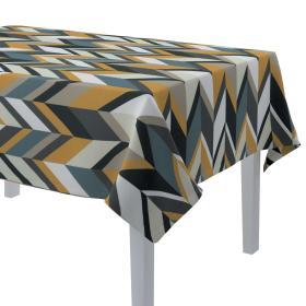 Dekoria.pl Obrus prostokątny, geometryczne wzory w żółto-niebiesko-bezowej kolorystyce, 130 × 280 cm, Vintage 70's