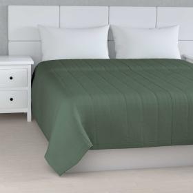 Dekoria.pl Narzuta pikowana w pasy, zgaszony zielony, szer.260 × dł.210 cm, Linen