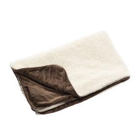 Dekoria.pl Pled Wolle brown 130x160cm, 130×160cm