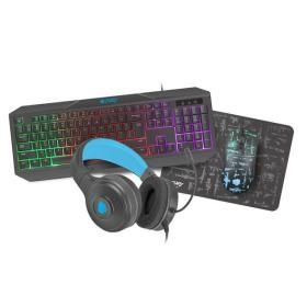 NATEC Zestaw dla graczy 4 w 1 Fury Thunderstreak 3.0 klawiatura + mysz + słuchawki + podkładka
