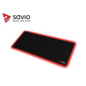 Elmak Podkładka pod mysz gaming SAVIO LED Edition Turbo Dynamic XL 900x400x3mm, Świecące krawędzie, Obszyta
